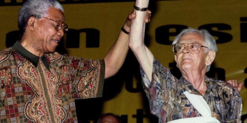 Joe Slovo with Nelson Mandela