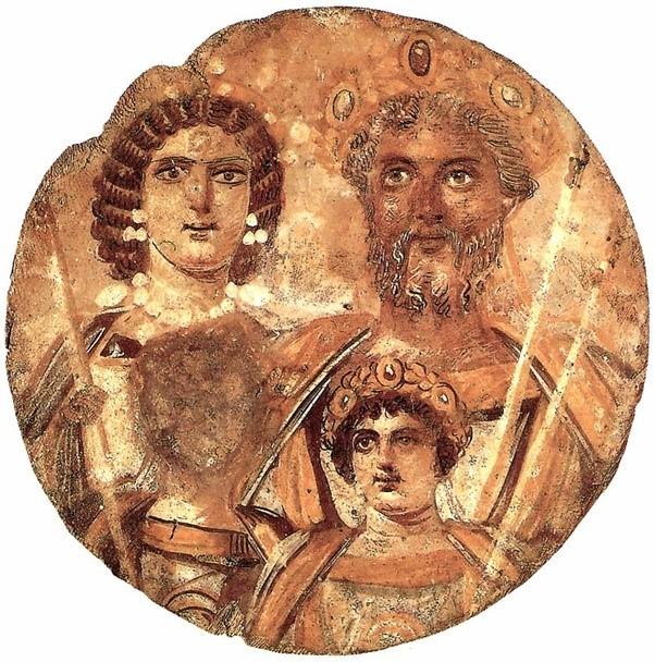 """The """"Great Black Briton"""" Septimius Severus and his family (his son Geta has suffered damnatio memoriae"""