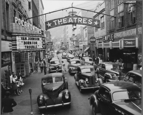Downtown Welch in 1946, population ~6000